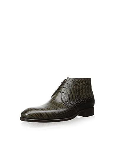 Carlos Santos Men's LaCosa Ankle Boot with Croc Print