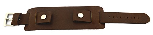 heavy-light-mid-brown-leather-military-chunky-cuff-watch-strap-20mm