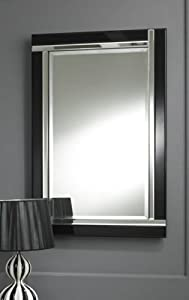 Large Modern Art Deco Rectangular Bevelled Glass Wall Mirrors from Chic Concept