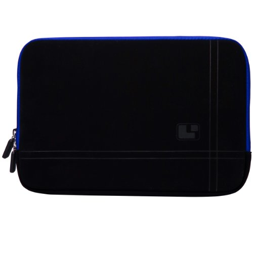 Blue Trim Sumaclife Microsuede Scratch Resistant Laptop Sleeve With Neoprene Bubble Padded Interior For Asus Ul20Ft / U20A / U6Vc / N20A / B23E 12.1 Inch Laptop + Sumaclife Tm Wisdom Courage Wristband