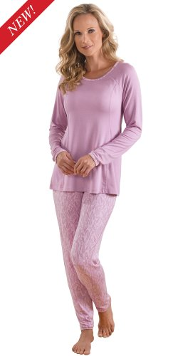 Mauve moisture wicking full length pajamas for women for Craft hobbies for women