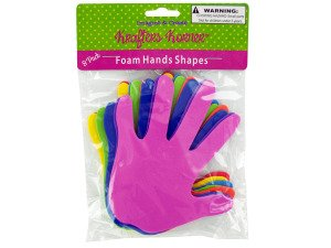 8 pack foam craft hand shapes - Case of 24