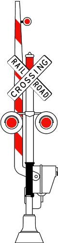 Street & Traffic Sign Wall Decals - Rail Road Crossing Illustrated Sign - 12 Inch Removable Graphic