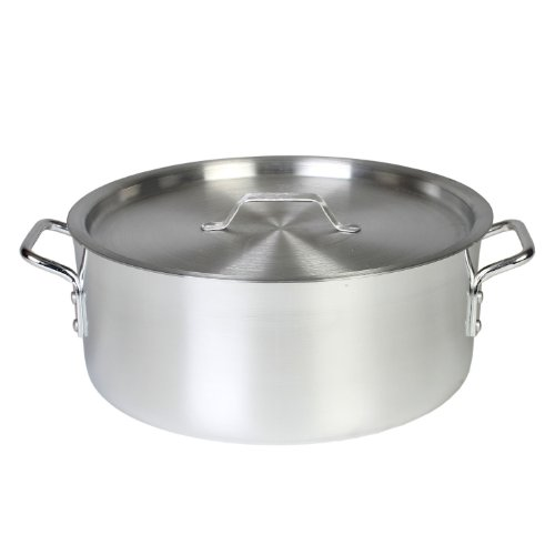 Thunder Group 12 Quart Aluminum Braiser with Lid (Aluminum Cooking compare prices)