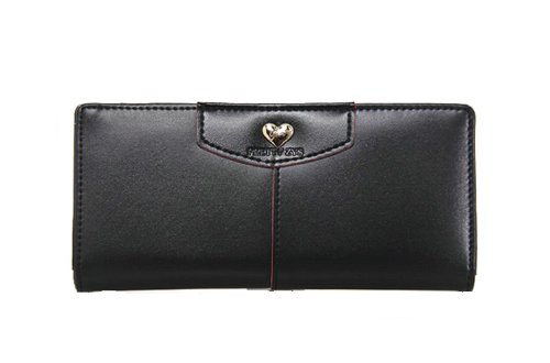 CA Women's PU Rivet Design Purse Color Black Size Large