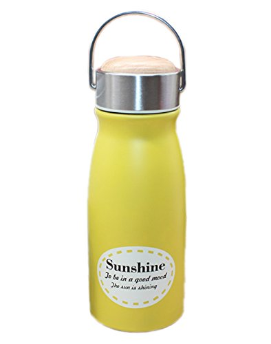 Ospard Vacuum Insulated Stainless Water Bottle 10 Ounces Yellow SH-22 (Narrow Water Jug compare prices)