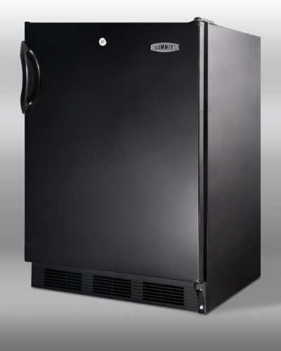 Summit Commercial Series: FF7LBLADA 5.5 cu. ft. Compact Refrigerator with Adjustable Glass Shelves, Door Lock, ADA Compliant, Deep Shelf Space, Interior Light, Hidden Evaporator and Commercially Approved: Black (Adjustable Fridge Shelf compare prices)