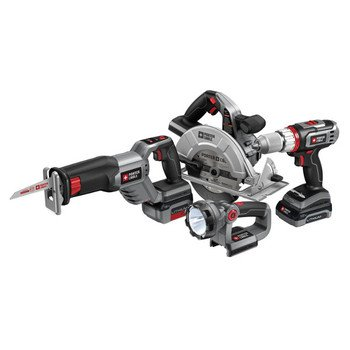 Factory-Reconditioned Porter-Cable PCL418C-2R Tradesman 18V Cordless Lithium-Ion 4-Tool Combo Kit
