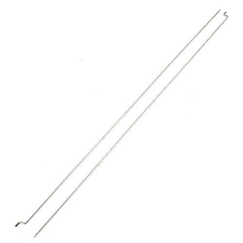 2Pcs 1.5mm Dia 330mm Long Stainless Steel Push Rods for RC Model Boat - 1