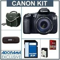 Canon EOS 60D DSLR Camera / Lens Kit, Black with Canon EF 18-135mm IS Lens - U.S.A. Warranty - 2 4GB SDHC Memory Cards (total of 8GB), Camera Bag, Spare LP E6 Battery. USB 2.0 SD Card Reader - FREE: Red Giant Magic Bullet PhotoLooks V1.5 Software, a $199.00 Retail Value