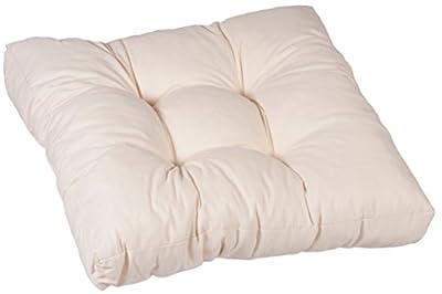 Lounge-Kissen 50 x 50 cm 100% Baumwolle Zierkissen creme weiß von Gartenstuhl-Kissen auf Gartenmöbel von Du und Dein Garten