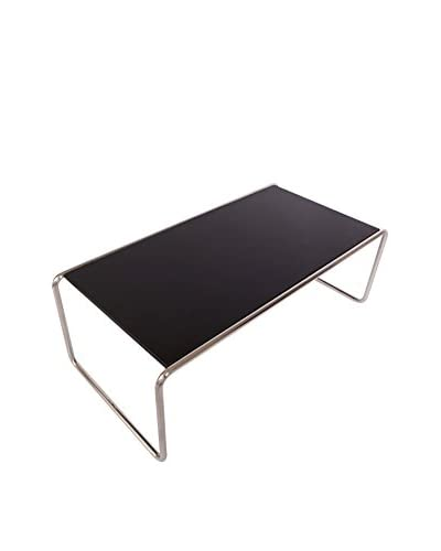 LeisureMod Malvern Side/Coffee Long Table, Black