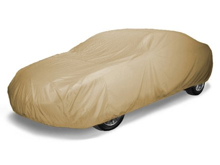 CoverMates Ultima - Semi Custom Fit Car Cover Premium Solution-Dyed 300D Polyester with Free Storage Bag! (Tan)