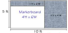 Combo-Rite Modular Boards - Type D Reverse (Le' Tack) 5'H x 10'W