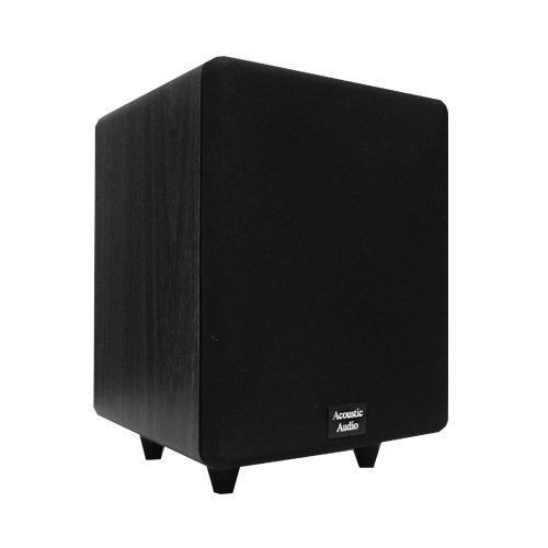 "Acoustic Audio Cinema Cs-Ps65-B 250 Watt 6.5"" Powered Black Subwoofer Home Theater Sub"