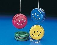 Metal Smile Face Yo-Yos (1 dozen) – Bulk