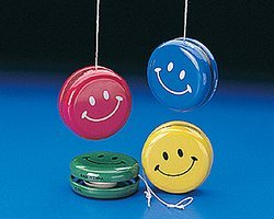 Metal Smile Face Yo-Yos (1 dozen) - Bulk - 1
