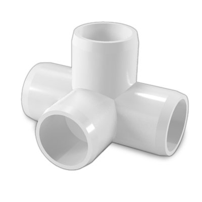 1&quot; 4-way Tee PVC Fitting Connector