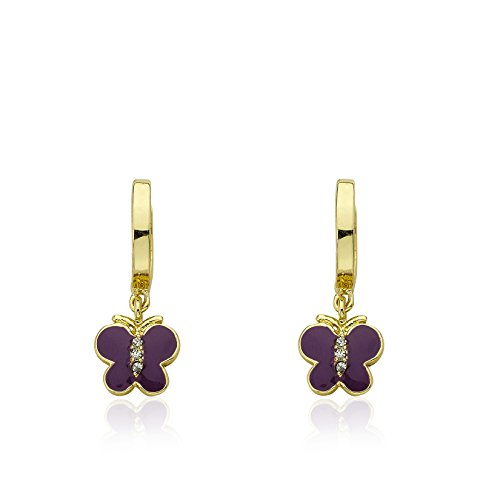 Little Miss Twin Stars 14k Gold-Plated Hoop Earrin…