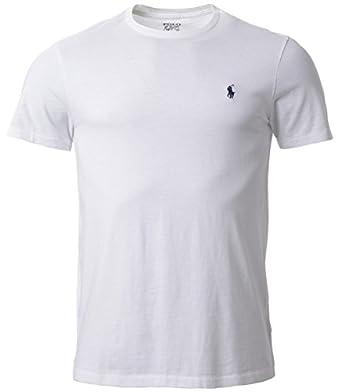 Polo Ralph Lauren Men Classic Fit Pony Logo T-shirt (S, White)