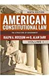 American Constitutional Law, 2-Volume Set (081334901X) by Rossum, Ralph A.