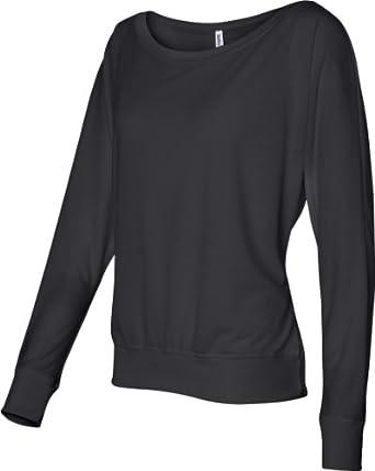 Bella 8850 Ladies Elizabeth Long-Sleeve Dolman Top - Black - XS