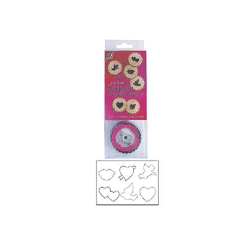 Dress My Cupcake DMC41CC1868 Linzer Valentine 6-Piece Cookie Cutter Set