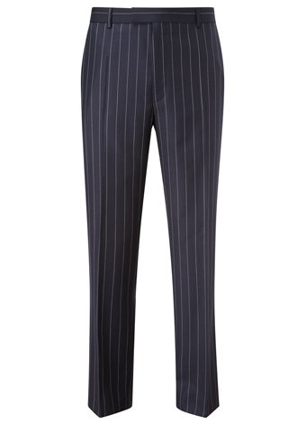 Austin Reed Contemporary Fit Navy Stripe Trousers LONG MENS 36