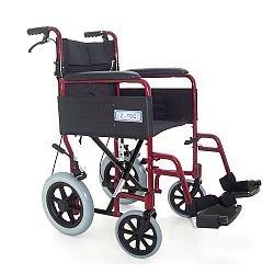 Folding Aluminium Transit Wheelchair With Handbrakes - 18