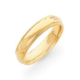 Genuine IceCarats Designer Jewelry Gift 14K 5Mm Milgrain Comfort Wedding Band Size 4.00