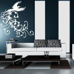 Wandtattoo phoenix 100 cm x 89 cm schwarz ral 9005 for Wandfolie schwarz