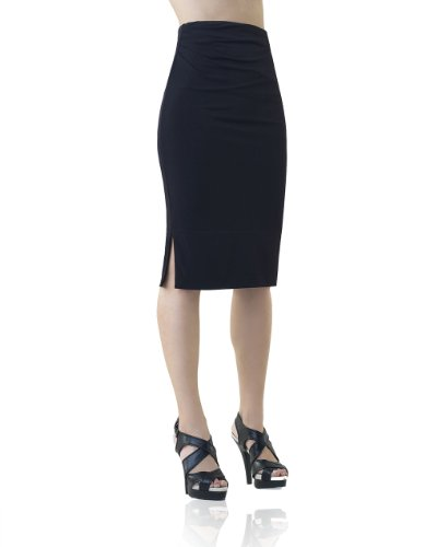 Pencil Skirt with Side Shirring by Shape FX