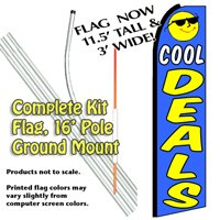 Cool Deals Feather Banner Flag Kit (Flag, Pole, & Ground Mt)