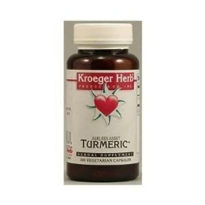 Kroeger Herb Turmeric Vegetarian Capsules - 100 Ea, 12 Pack