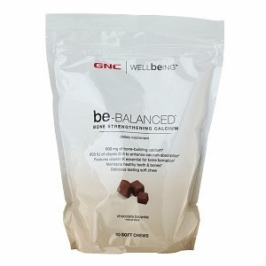 Gnc Wellbeing Be-Balanced Calcium Soft Chews, Chocolate Brownie, 60 Ea
