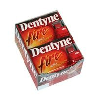 Dentyne Ice Gum Fire Spicy Cinnamon, Cadbury Adams - 12 Per Pack X 12 Packs