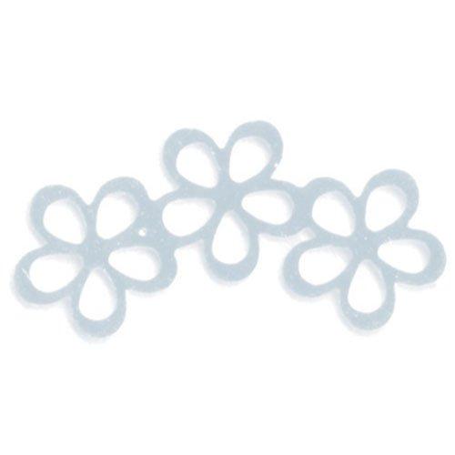 リトルプリティー シャイニーフラワー3連スカシ シルバー 10個 LPー0605R