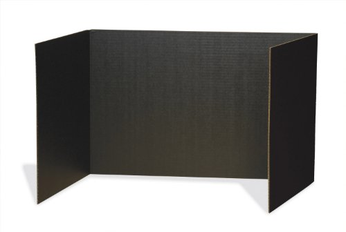 "Pacon Privacy Boards, 48""X16"", Black, 4 Pack"