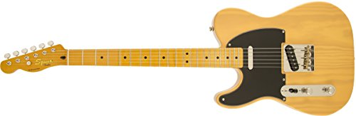 Squier-by-Fender-Classic-Vibe-50s-Left-Hand-Telecaster-Electric-Guitar-Butterscotch-Blonde-Maple-Fingerboard