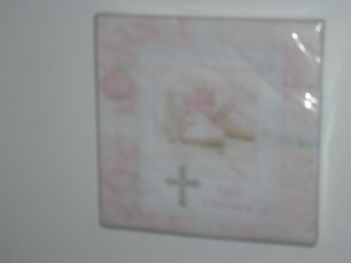Tiny Blessing Pink Christening Luncheon Napkins