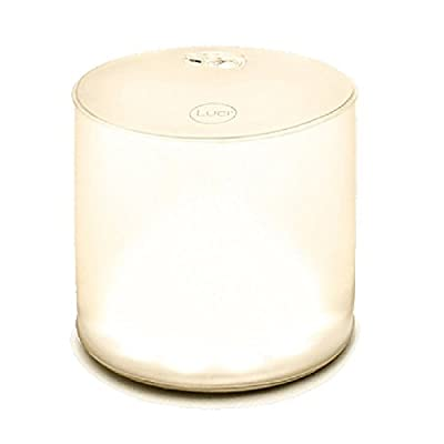 LUCI Lux Inflatable LED Solar Lantern with Frosted Finish