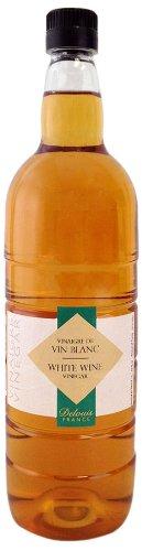 Delouis France (Plastic Bottle) White Wine Vinegar 6%, 33-Ounce Bottles (Pack of 6)