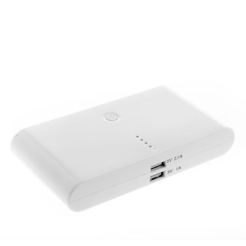 Daditong 50000mAh Powerakku für iPad, iPad 2/3, iPhone 5, iPhone 4, iPhone 4S, iPod, Blackberry, HTC, Android, Samsung Batterien-Pack Charger Externer Universal-USB Backup-Batterien Netzanschluss Weiß