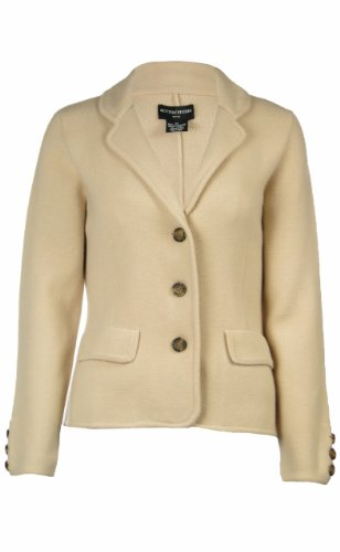 Sutton Studio Womens Cashmere Blazer Cardigan Sweater Petite (Petite Large, A...