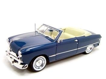 Buy 1949 Ford Convertible Blue 1:18 Diecast Model