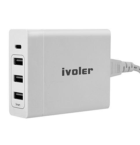 ivoler-75w-usb-type-c-caricatore-con-power-delivery-60w-usb-c-porte-15w-3-usb-portes-per-apple-macbo