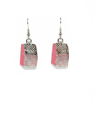 50'S Charm Earrings (Pink Jukebox)