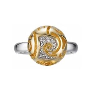 Pierre Cardin Damen-Ring Pleine Lune Goldplattiert Sterling-Silber 925 Gr. 50 (15.9) 43809839160