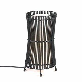 Koehler Home Decorative Metal Slat Concave Table Lamp
