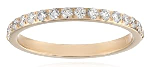 14k Yellow Gold Half-Eternity Diamond Wedding Band (2 mm) (0.32 cttw, SI-1, G Color), Size 8